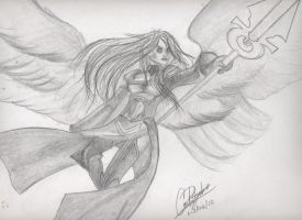 Avacyn, Angel of hope by carlosart1