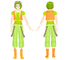 MMD-Gumiya or Gumo Whisper V3 - Reference - by Hikary1