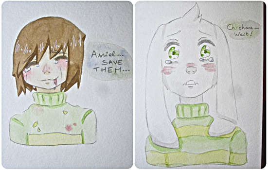 Chara and Asriel.. ~ by mailinyan