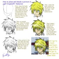 how to draw a 2 layer picture by Keberon