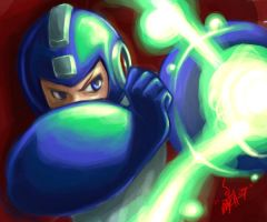 -Megaman Blast- by MatchLight