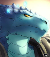 Dragonborn's portrait commish by Shalinka