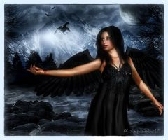 The fly of the raven by Ecathe