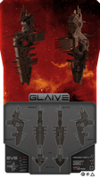 "EVE Minmatar Cruiser ""GLAIVE"" by Legato895"