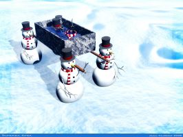 Snowman down by rlcwallpapers