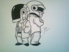 Daft Punk Chibi by ejgg