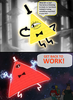 Bill Cipher-Get back to WORK! by Prototype-LQ