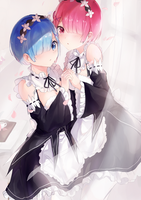 rem and ram by Oretsuu