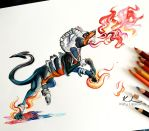 96- Houndoom by Lucky978