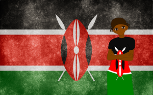 HM CSF Kenya flag background by ABtheButterfly