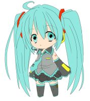 Hatsune Miku : colored by hime-chii
