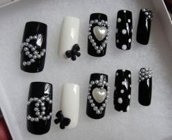 CC style 3d nails set by jadelushdesigns