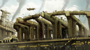Allied Enemies - Industrial Structure Concept by KevinMassey