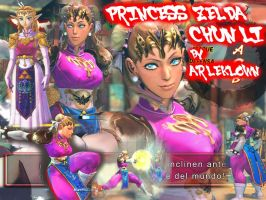 SSF4:AE MOD CHUN LI PRINCESS ZELDA by arleklown