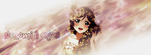 Nozomi Toujou Signature Banner! (Requested) by Mordecai-Fan
