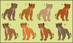 Lioness Adoptables - CLOSED by HydraCarina