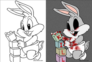 Baby Bugs - Coloring book corruption by deviruchii