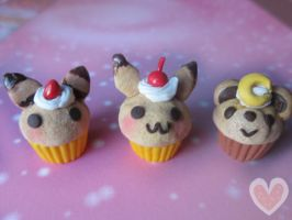 Pokemon cupcake charms (for sale) by Amphany