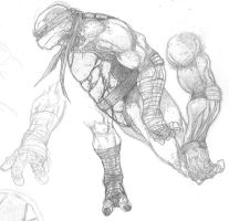 Ninja Turtle sketching by anthonyharrisart
