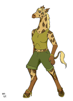Anthro Giraffe by Kazanthi