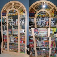 Ginga (and Pokemon) Collection - New Display Case by FlickaBee