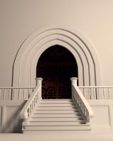Stairs and Door (Blender 3D Model download) by forestdino