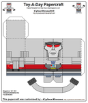 Toy-A-Day CD03 - Megatron 'G1' Papercraft by CyberDrone2-0