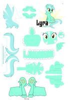 I watch you clop Lyra Heartstrings papercraft by ThatInsaneAlicorn