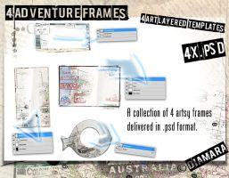 4 Adventure Frames by Diamara