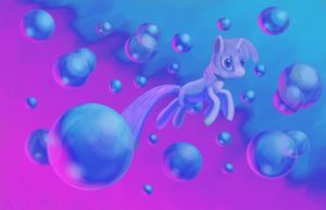 Twilight and Bubbles by Aklimovich