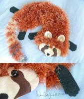 Red Panda Scarf by FamiliarOddlings