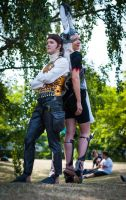 Balthier and Fran Cosplay by AkuiCosplay