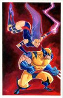 Wolverine and Psylocke by jFury