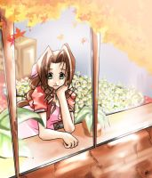 Aerith's Window by charlestanart