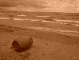 Barrel in the sand by AccountConquest