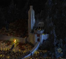 LEGO model of the Hornburg in Helm's Deep by Danieldt