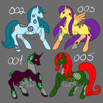 {ADOPTS} FireGlass Ponies 002-005 {2/4OPEN} by Lady-Willow-River