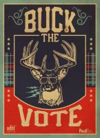 'Buck The Vote' - ADHT Poster by madeofglass13