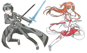 Kirito y Asuna by Hahc3Shadow