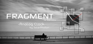 Fragment: Analog Clock for Rainmeter by SolarPhoton