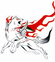 Okami Amaterasu, The Sun God by 8TwilightAngel8