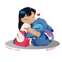 Lilo and Stitch - Hug by SabakuNoTemari88