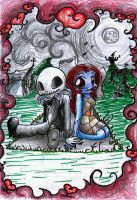 Chibi Jack and Sally by Hibi-chan