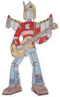A robot playing a guitar by do-you-sell-crisps