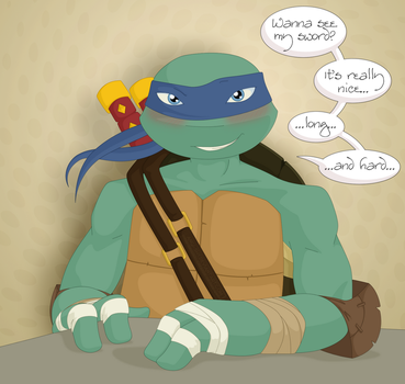 TMNT - Flirty Leo by Angi-Shy