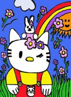 Hello Kitty and bunny by Desart