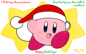Santa Kirby Card by water-kirby