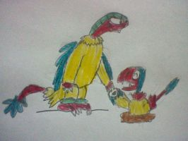 Archen and Archeops by nintendolover2010
