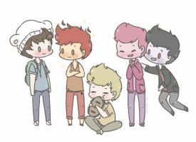 One Direction + Adventure Time by milamint