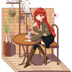 [Commish] Alexisfane pixel scene by Chipiy
